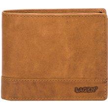 7ff0081af86d Lagen Pánská hnědá kožená peněženka Brown V 76 V