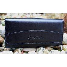 Dámska peňaženka čierna s leskom ekokoža 8806dc95775