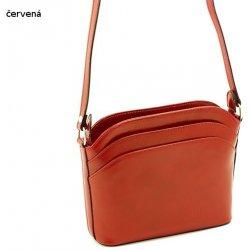 2c8e2bbb9 dámská malá kožená kabelka listonoška crossbody Červená alternatívy ...