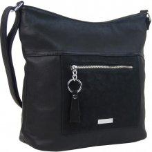 New Berry Veľká crossbody dámska kabelka s čelným vreckom NH8047 čierna 637b21f7634