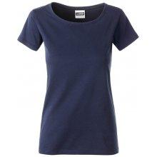 32a8c8b148f4 James   Nicholson Klasické dámske tričko z biobavlny 8007 Šedý melír