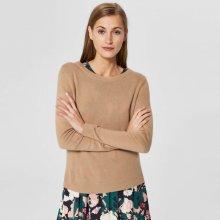 SELECTED FEMME Kašmírový sveter hnedý