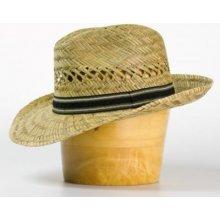 034b3c1ba Karpet pánsky klobúk slamený s čiernobielym páskom