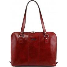b57dcf120b Tuscany Leather business kabelka RAVENNA bordo