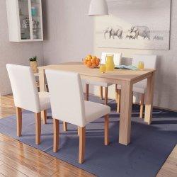 b9d4256da99f vidaXL Jedálenský stôl a stoličky