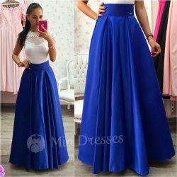 0e5016068264 Dámska dlhá sukňa modrá od 76