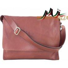 Made In Italy kožená taška cez rameno 685 hnedá 3216f4e0a45