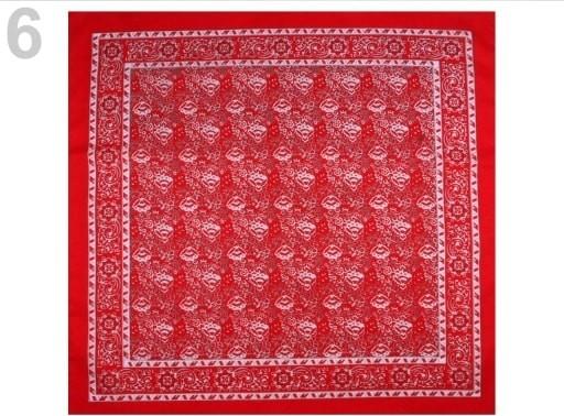 Bavlněný šátek 70x70 cm kašmírový vzor 6 červená světlá alternatívy -  Heureka.sk 09f331493c
