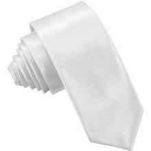 Kravata úzka biela
