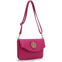 c91d91721e Crossbody kabelka s brošňou Dafné ružová