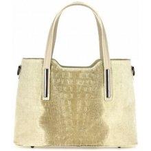 Made In Italy kožená kabelka 1452 béžová 43ecf160dd5