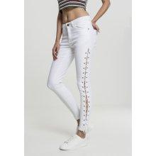 f0c713705a8b Urban Classics Ladies Denim Lace Up skinny pants white