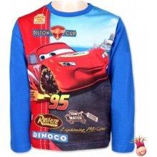 Setino Chlapecké tričko s dlouhým rukávem Cars - modré