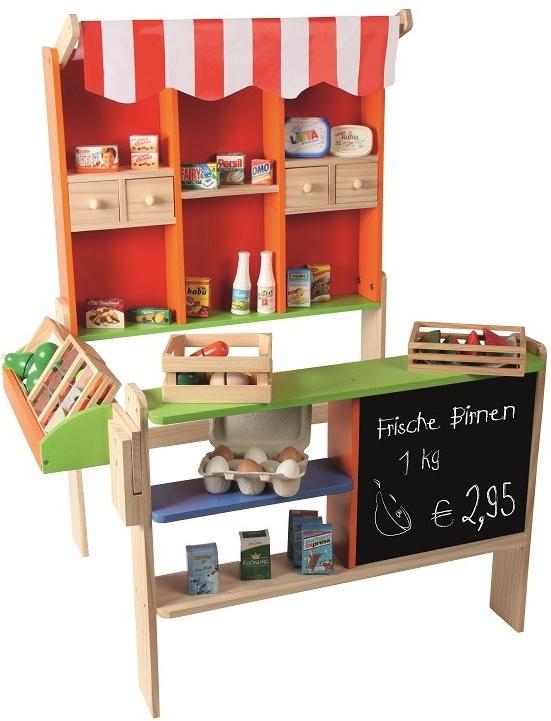 8cd286f7e3cd Detský obchodík Beluga Drevený obchod s markízou - Zoznamtovaru.sk