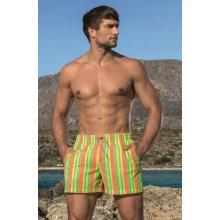 Lorin Neónové pánske šortky na plávanie zelená oranžová a96d520751