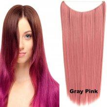 Flip in vlasy - 60 cm dlhý pás vlasov - odtieň Gray Pink 45b794f32d9