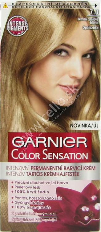 Garnier Color Sensation farba na vlasy s intenzívnymi pigmentami a  kvetinovými olejmi 7.0 - jemná opálová 32021631773