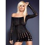 Obsessive Rocker dress erotické šaty čierne