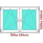 Soft Dvojkrídlové plastové okno 195x160 cm, OS+OS, so stĺpikom