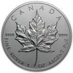 Maple leaf 1 oz 2018 Kanada strieborná investičná minca
