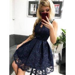 1870fdf45e6c Spoločenské krátke šaty s čipkou tmavo modrá alternatívy - Heureka.sk