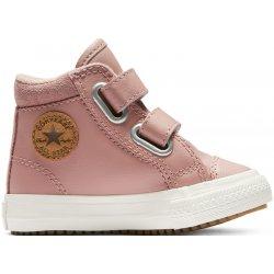 68acf69272bc7 Converse kožené dievčenské topánky Chuck Taylor All Star 2V PC Boot Hi Rust  Pink