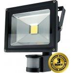 Solight LED vonkajší reflektor, 20W, 1400lm, AC 230V, čierny