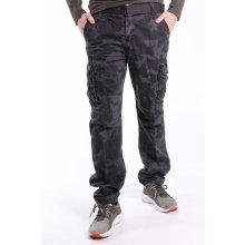 4190338c61e4 Pánske ARMY maskáčové nohavice s vreckami a s opaskom LOSHAN (8103-85) - MID