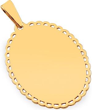 4a7bfd92b iZlato Forever Zlatý prívesok platnička na gravírovanie s ozdobným lemom  IZ17292