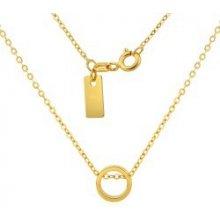 6abeb2bca Strieborný náhrdelník pozlátený s kruhovým príveskom SMJN001QS8