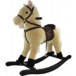 Teddies kůň houpací béžový plyš