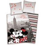 HERDING Obliečky Mickey a Minnie New York bavlna 140x200 70x90