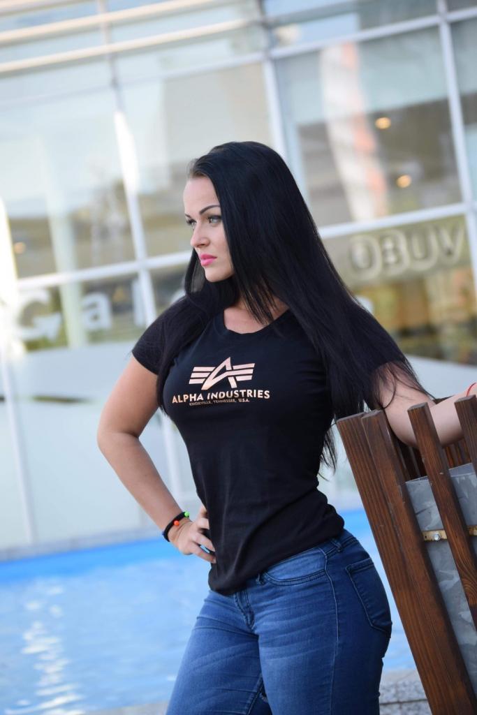 Alpha Industries Logo T Wmn tričko dámske black gold alternatívy -  Heureka.sk d53fe5efb35