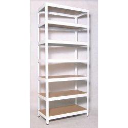 porad a biedrax kovov reg l do bytu 50 x 75 x 270 cm 7 polic x 175kg b l. Black Bedroom Furniture Sets. Home Design Ideas