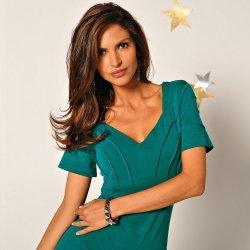 Blancheporte Elegantné šaty zelená smaragdová alternatívy - Heureka.sk 33f498948f