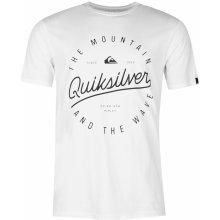 Quiksilver Script Short Sleeve T Shirt Mens White