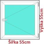 Soft Plastové okno 55x55 cm, otváravé