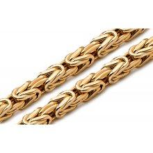 Zlatá retiazka kráľovský vzor 5 mm IZ9625