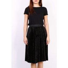 653f4f25d104 Plisovaná stredne dlhá sukňa čierna