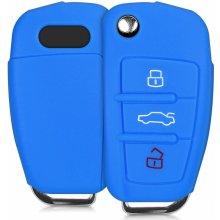 Kľúčenka Silikónový obal Audi - modrý 7b26f7936e1