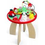 Janod Drevený hrací stolík s aktivitami na jemnú motoriku Baby Forest