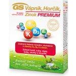 GS Vápnik Horčík Zinok Premium 30 tabliet