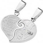 Prívesky pre dvoch - rozdelené srdce, zamilovaný odkaz AA32.23