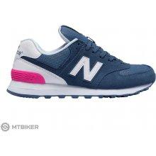 New Balance WL574CNB dámske lifestylové topánky modrá biela ružová 338c025caa8