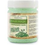 Hristina vlasová maska pre poškodené vlasy žihľava, orech a lopúch 200 ML