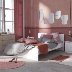 30e459edcd2df Parisot Študentský nábytok do dievčenskej izby Haven Moderná posteľ biela  140 Haven