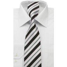 Čierno- biela pánska kravata 3000-1718