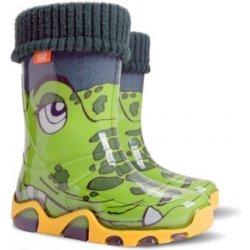 DEMAR Chlapčenské zateplené čižmy STORMER LUX PRINT 0032 B krokodíl ... bd56c48f478