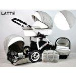 Raf-pol 3-kombinácia White LUX 2017 latte Kolesá penové Autosedačka