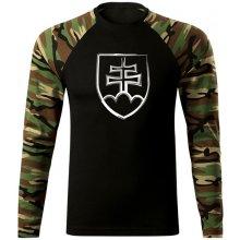 d12869be046e O T Fit-T tričko s dlhým rukávom slovenský znak woodland 160g m2